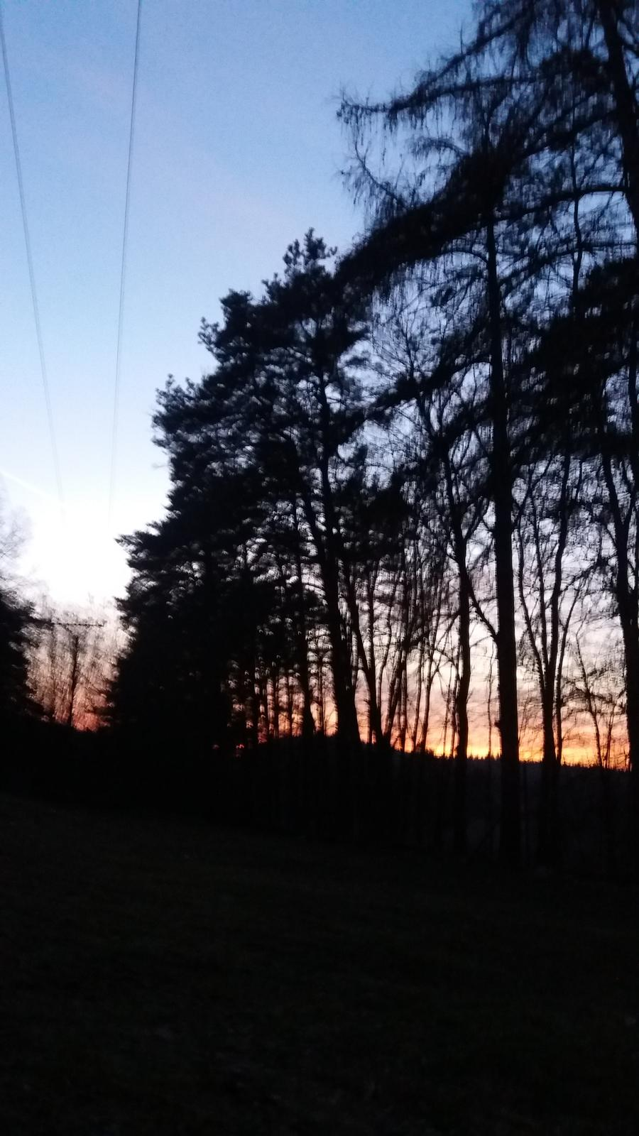 Rok 2017 u nás a po našem.... - Dnes byl krásný západ slunce u nás..☺