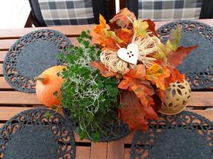 Podzimni listy na terasu od maminky.