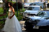 Svatební šaty s kamínky vel 36-38, 36