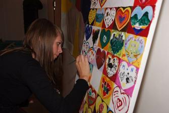 A takto pre nás všetci maľovali- skvelý nápad a príprava Norbertovej kamarátky Tanji