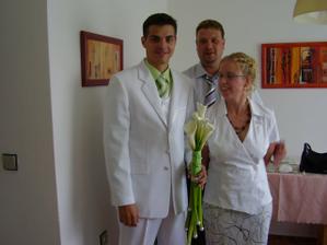 manžel,bratr Roman-svědek,jeho nastávající Andrea