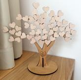 Strom života - Guest book - kniha hostů - na srdíčka stromu se vám podepíší všichni svatebčané na památku. Jména novomanželů na kmen stromu zadáte v objednávce.
