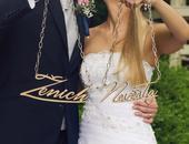 Řetěz na krk nevěsta a ženich-loučení se svobodou,