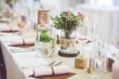 Kompletní svatební výzdoba ke svatebnímu stolu,