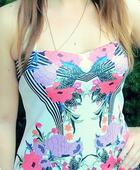 Kvetované letné elegantné šaty, S