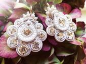 Luxusní svatební náušnice,