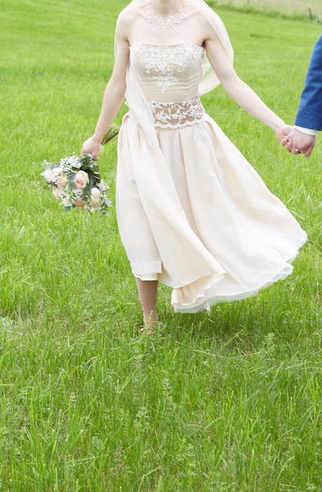 Svatební šaty, ivory/béžové - Obrázek č. 1