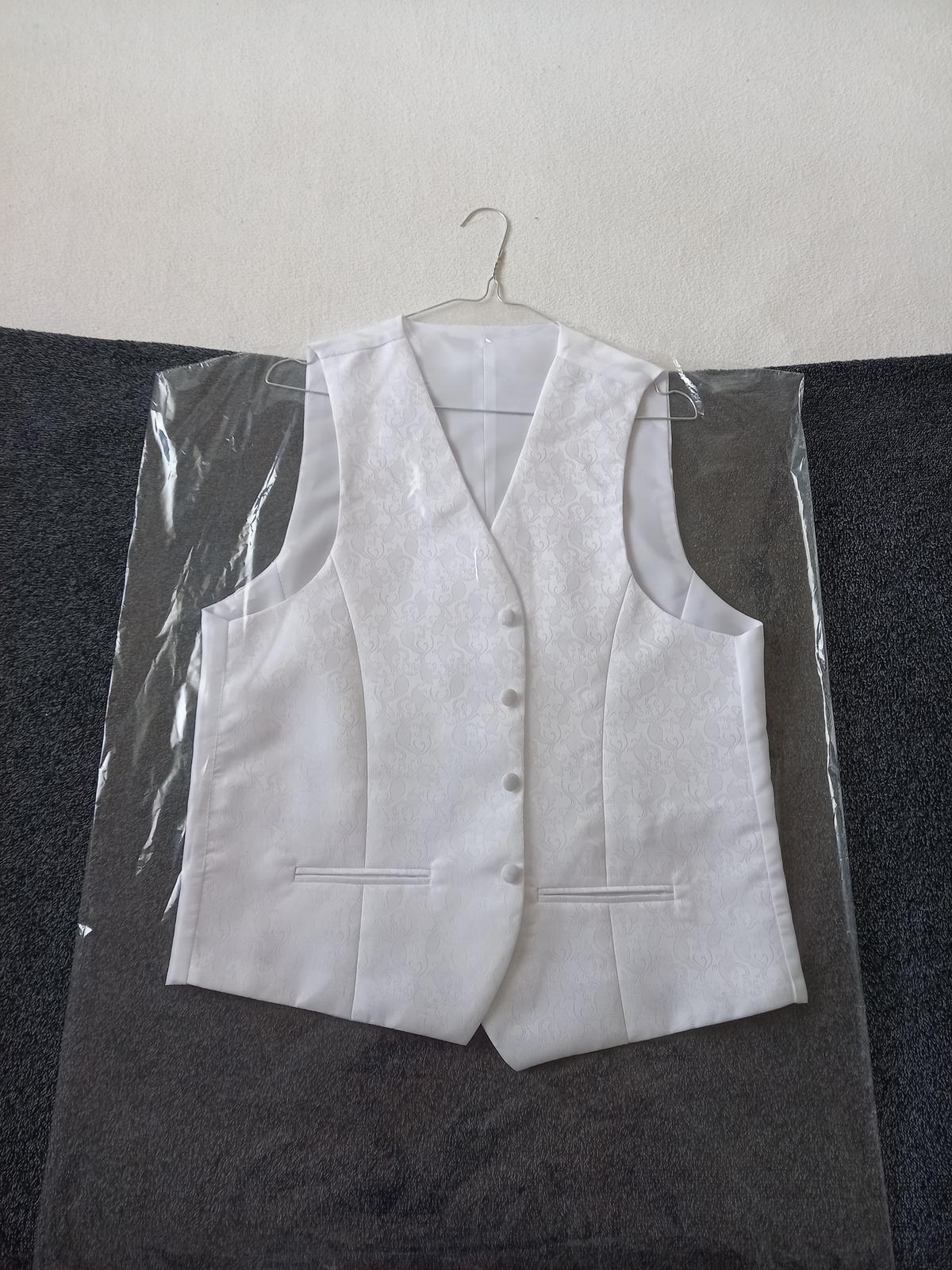 svadobná košeľa, vestička,kravata, vreckova pre ženícha - Obrázok č. 1