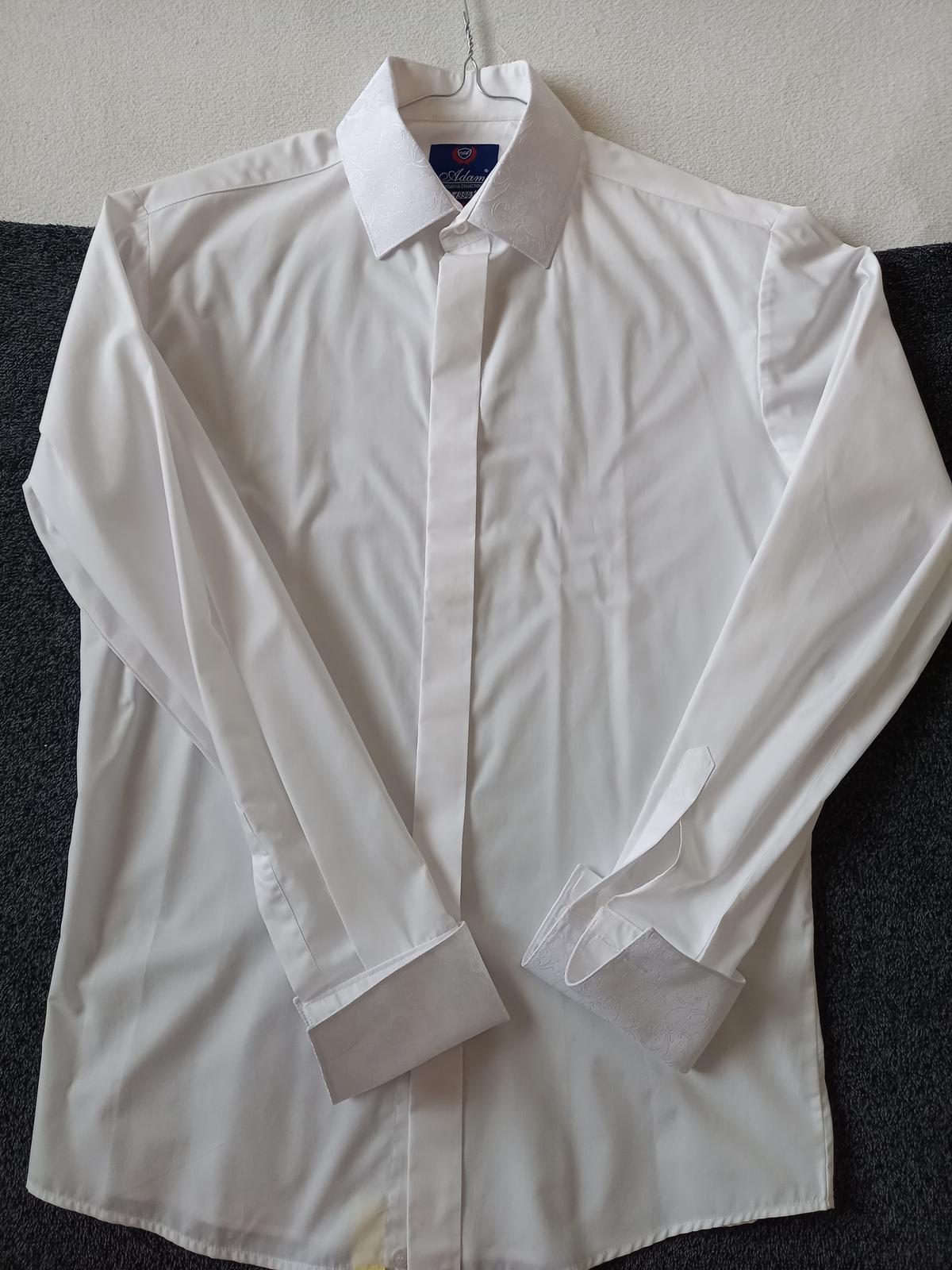 svadobná košeľa, vestička,kravata, vreckova pre ženícha - Obrázok č. 3