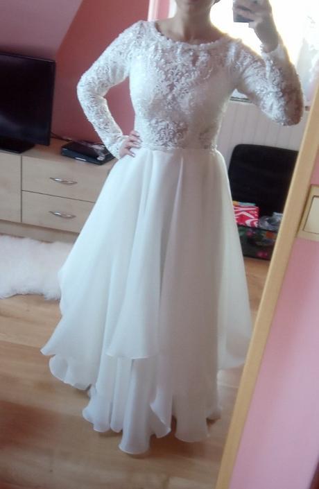 Predám svadobné šaty veľkosť 38 - Obrázok č. 2