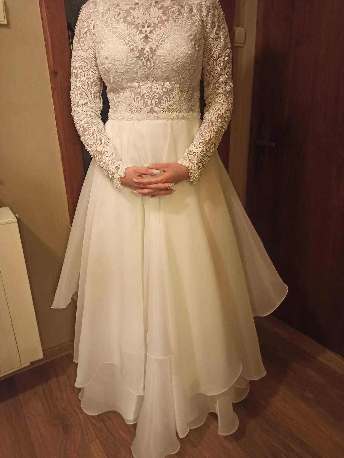 Predám svadobné šaty veľkosť 38 - Obrázok č. 3