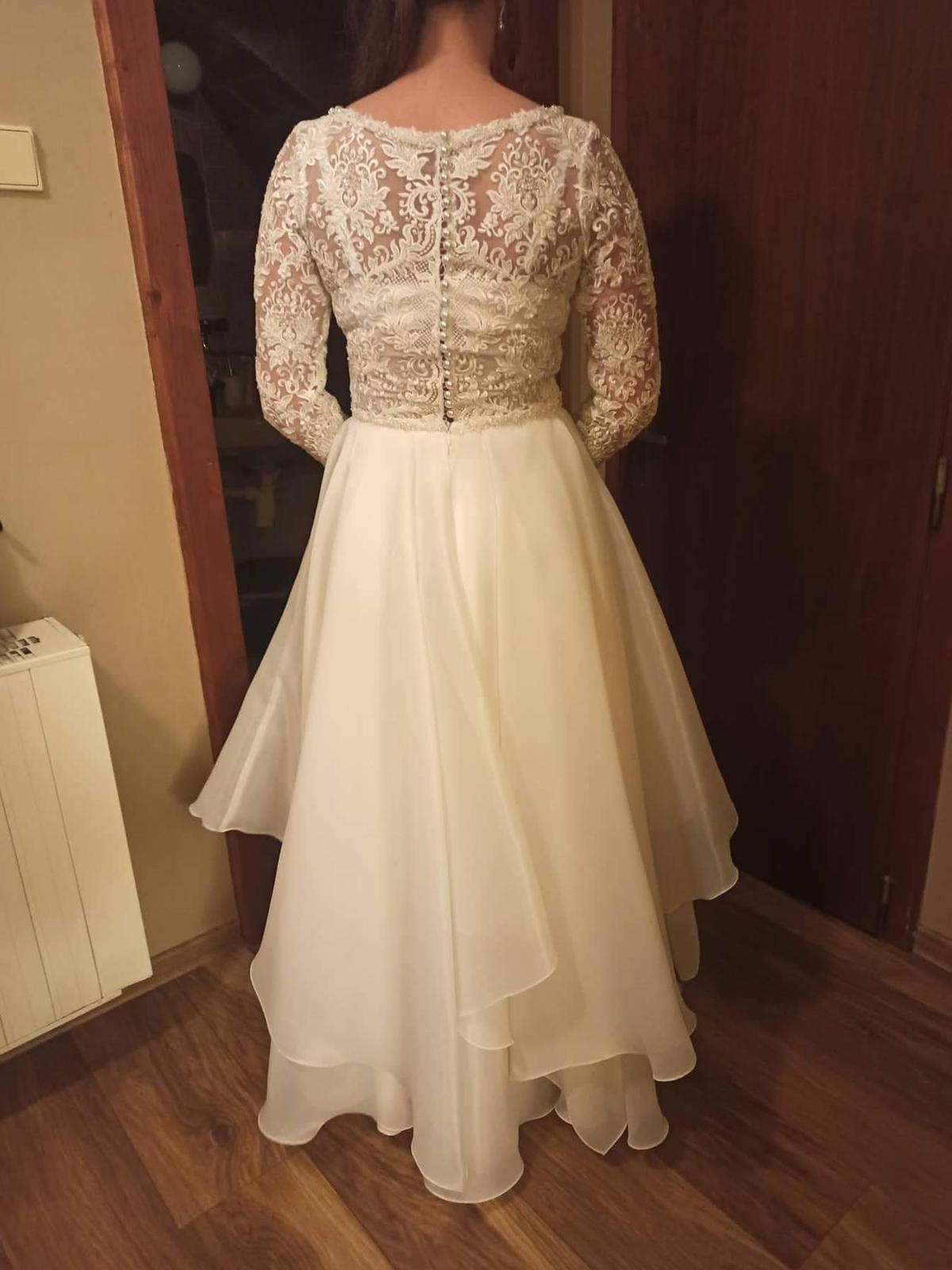 Predám svadobné šaty veľkosť 38 - Obrázok č. 4