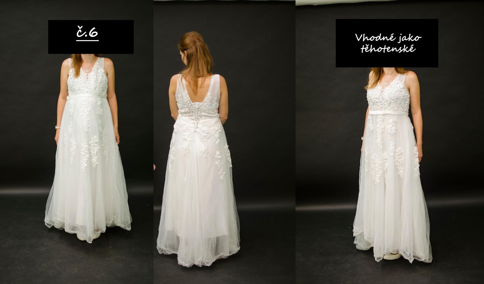 Těhotenské svatební šaty - Obrázek č. 1