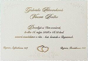 Janka a Roman - Naše svadobné oznámenia zajednané, len s našimi menami