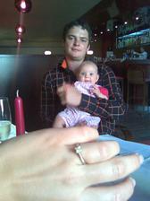 Můj krásný snoubenec a naše dcera Barča