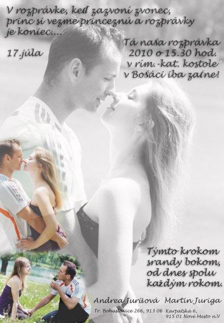 17.7.2010 Andrea a Maťo - naše krááásne oznámenie