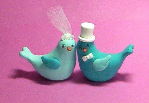Wedding ideas - Krasni ptacci na dort