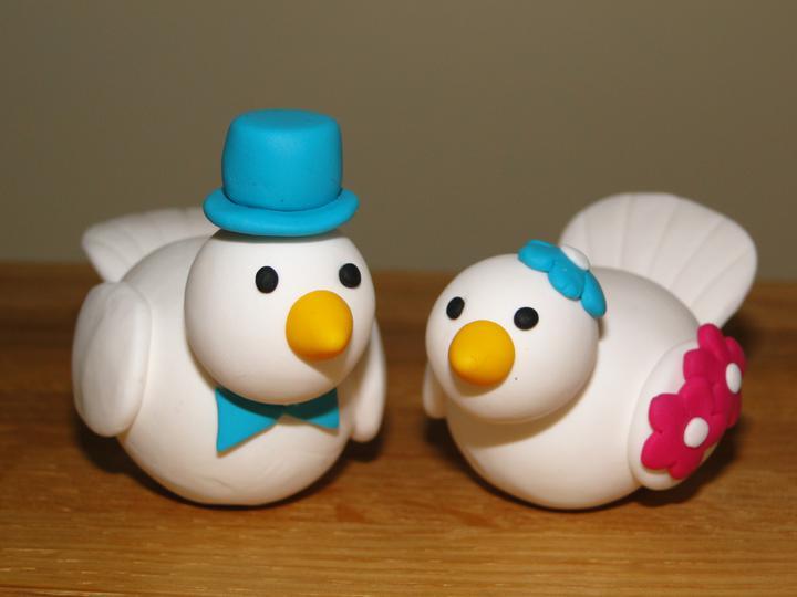 Wedding ideas - Hotovi ptacci na dort - sice nic moc, ale holt nejsem profik :)