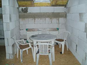 priestor pre kuchynský stôl a stoličky