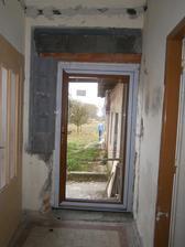 Terasove dvere - plastove - zlaty dub