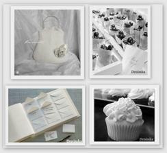 knížka na vzkazy od hostů,třešínky na letní svatbičku:-)