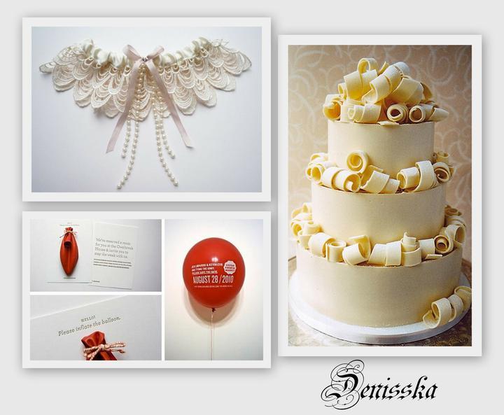 ♥ @ ♥ - podvazek je kouzelný,dortík zajímavý:-)