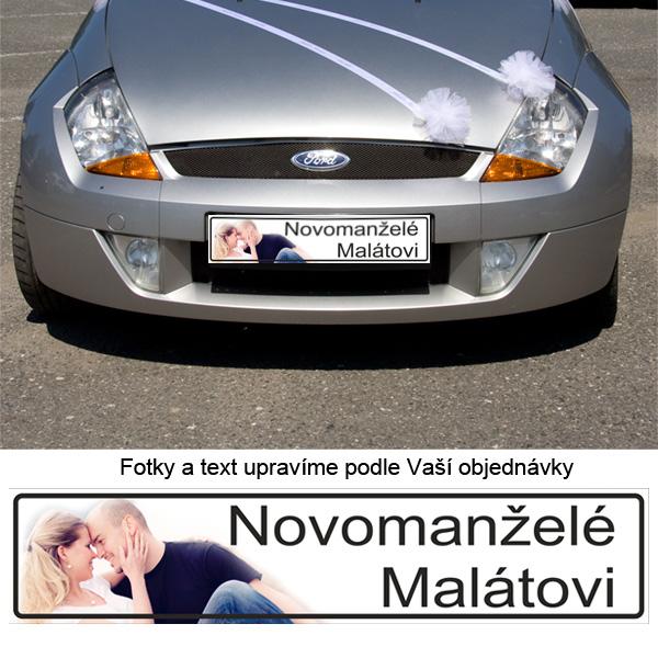 svatebni_zbozi - Svatební SPZ na přání s Vaší fotkou i jmény