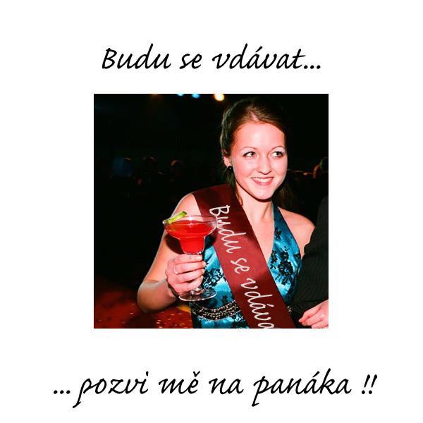 """svatebni_zbozi - Šerpa na rozlučku se svobodou pro budoucí nevěsty s nápisem """"Budu se vdávat ... pozvi mě na panáka!!"""""""