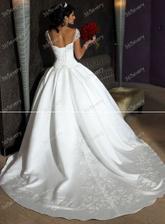 moje svatební šatičky zezadu