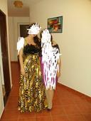 Šaty s perím - 42, 42