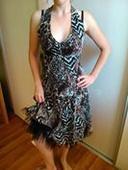 Tigrované šaty krátke, 42