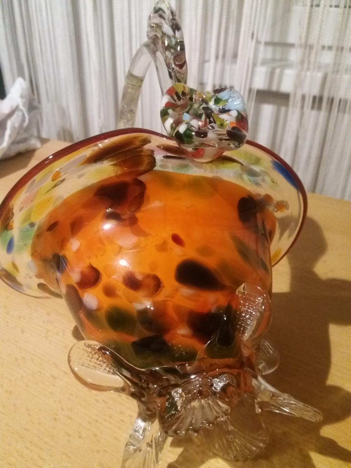 Rucne skleneny fukany kosik - Obrázok č. 1