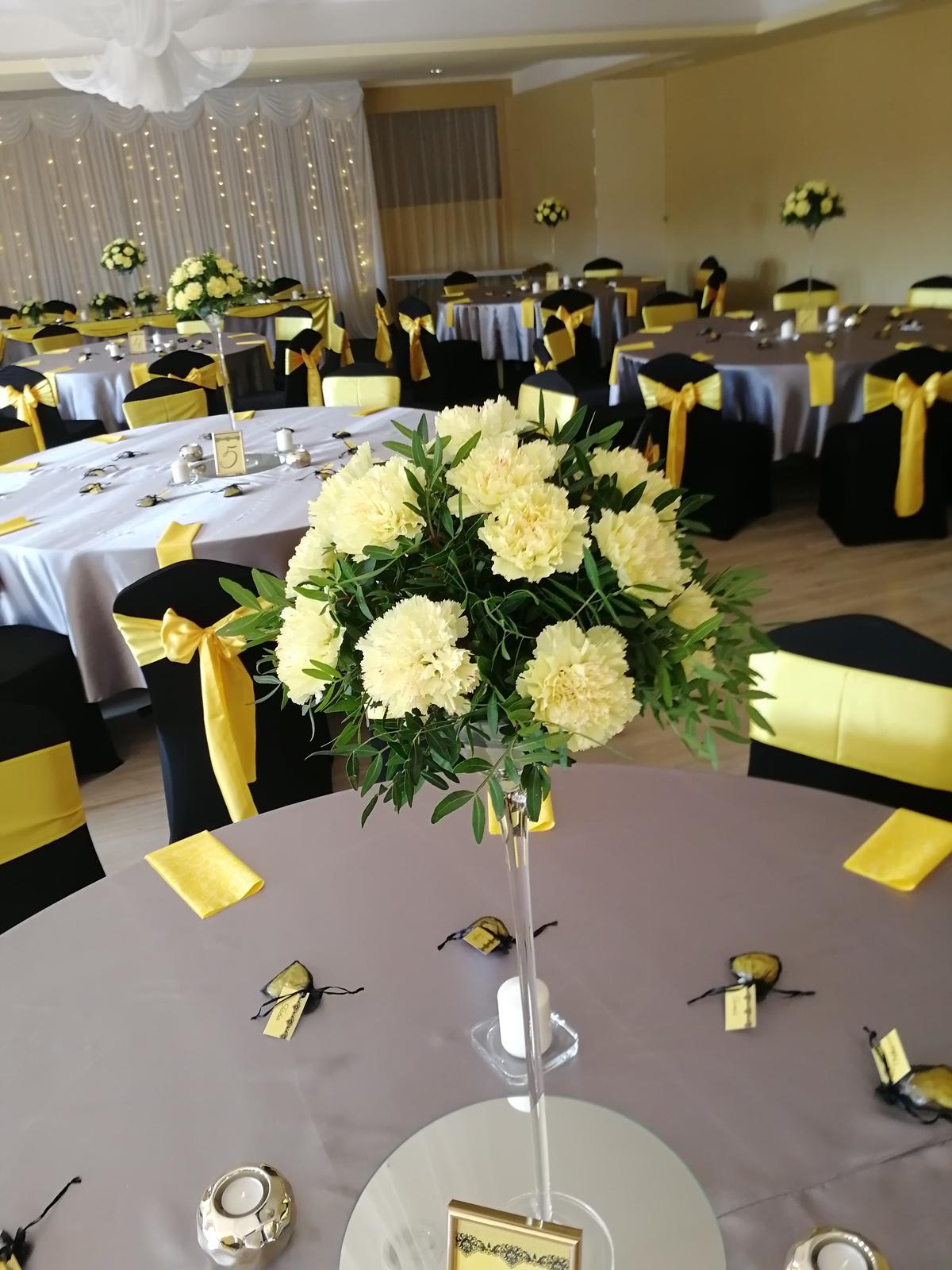 Svadba 14.9.2018 čierno-žlto-sivá kombinácia - Obrázok č. 18