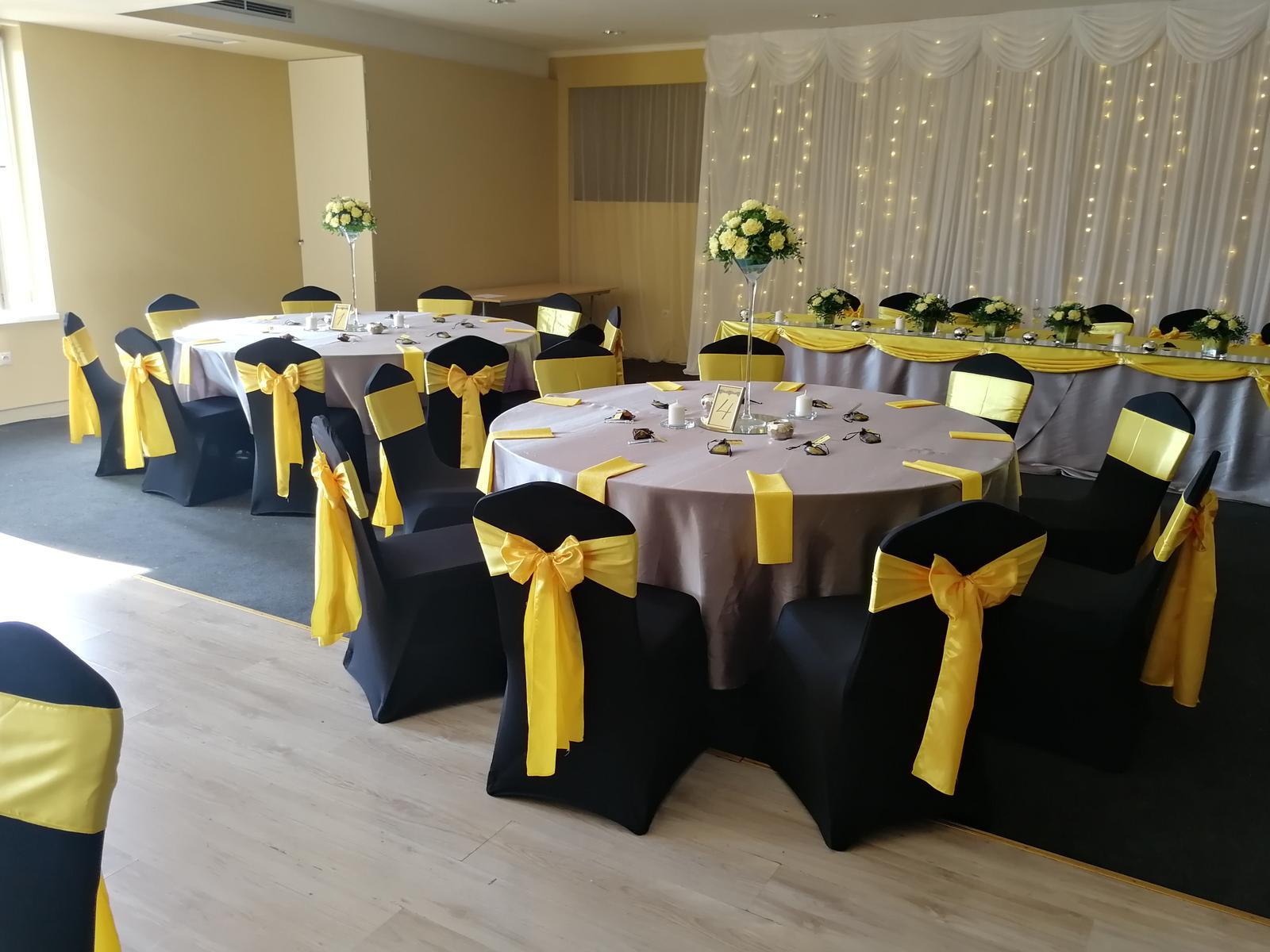 Svadba 14.9.2018 čierno-žlto-sivá kombinácia - Obrázok č. 31