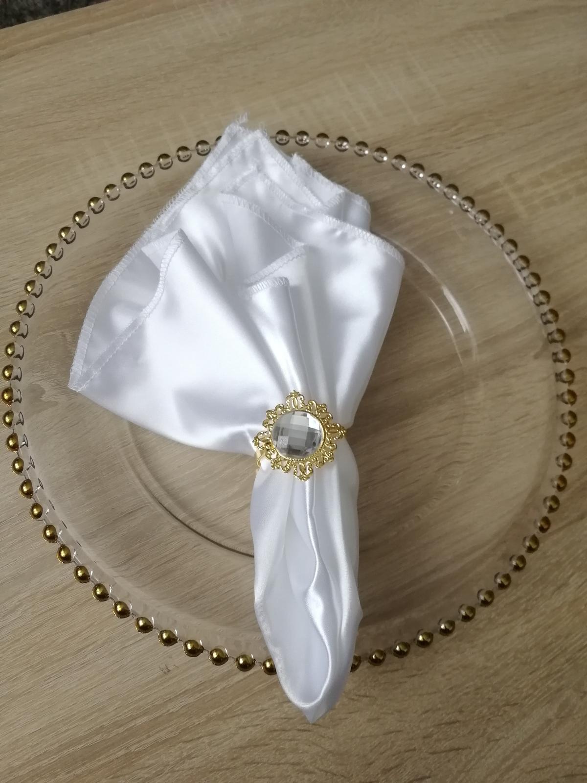 Luxusné klubové taniere so zlatými guličkami na predaj - Obrázok č. 2