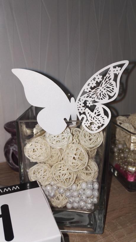 Výpredaj! - menovka motýľ 0,12€