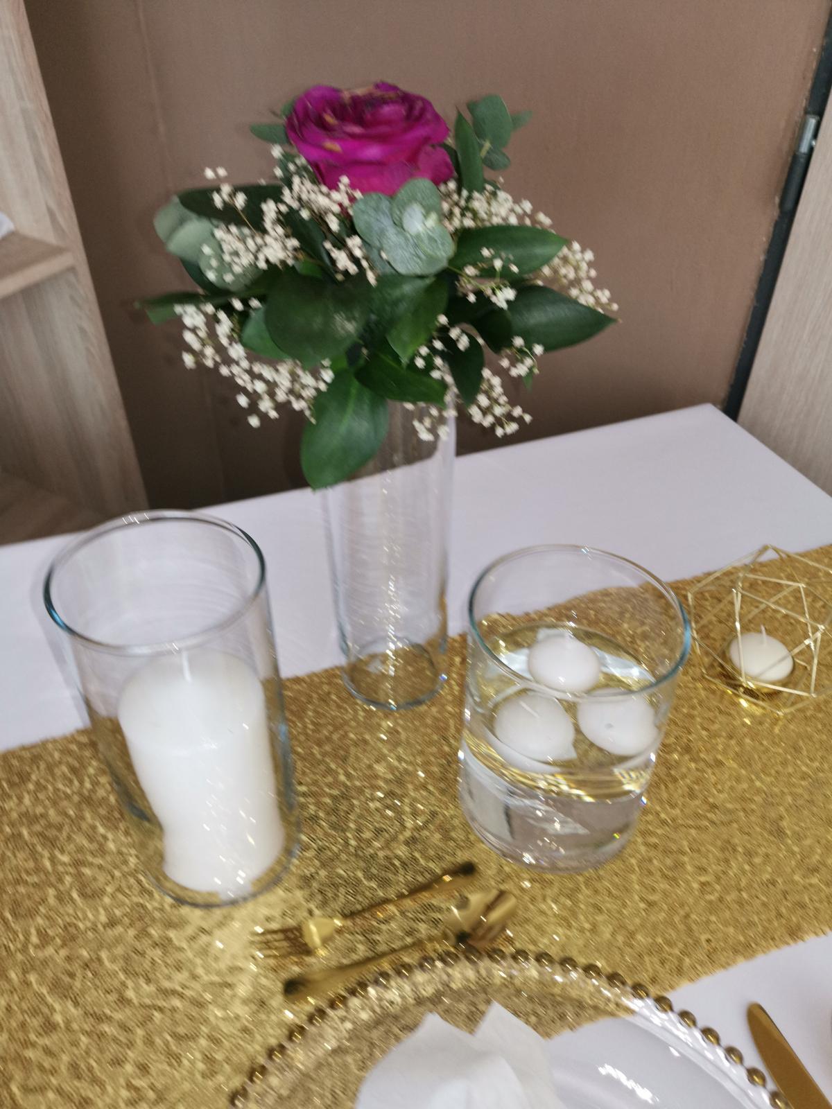 Váza valec a svietniky  - Obrázok č. 1