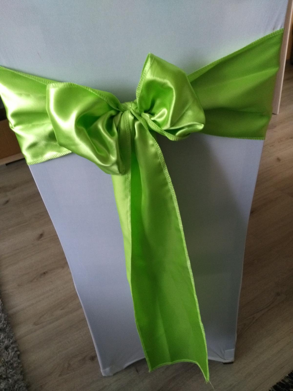 Saténová mašla zelená - Obrázok č. 1