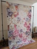 Kvetinová stena s konštrukciou ,