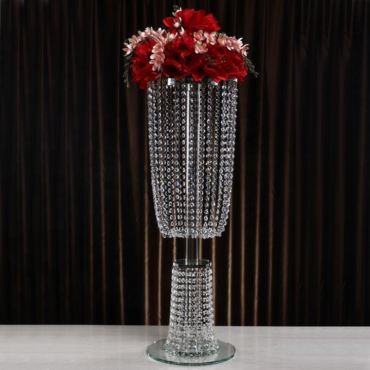 Sklenená kryštáľová váza  92cm  - Obrázok č. 1