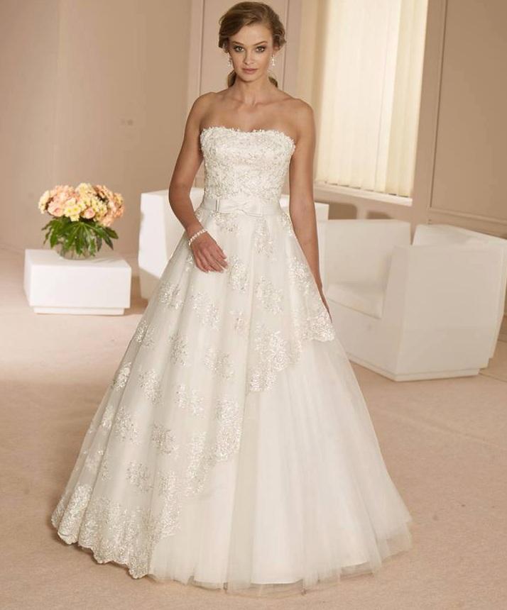 Svadobné šaty 36-40 - Obrázok č. 1