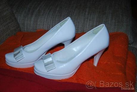 Svadobné topánky veľkosť 36 - Obrázok č. 1