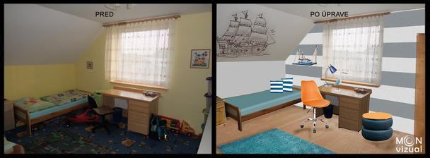 Izba pre chlapcov, ktorí majú radi lode a more