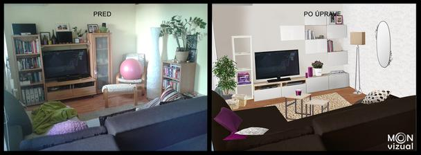 Trošku zmeny v obývačke :)