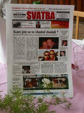 čtyřstranné svatební noviny,měly moooooc velký úspěch