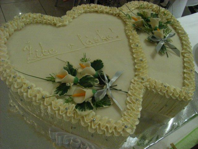 Dominika{{_AND_}}Branislav - svadobná torta