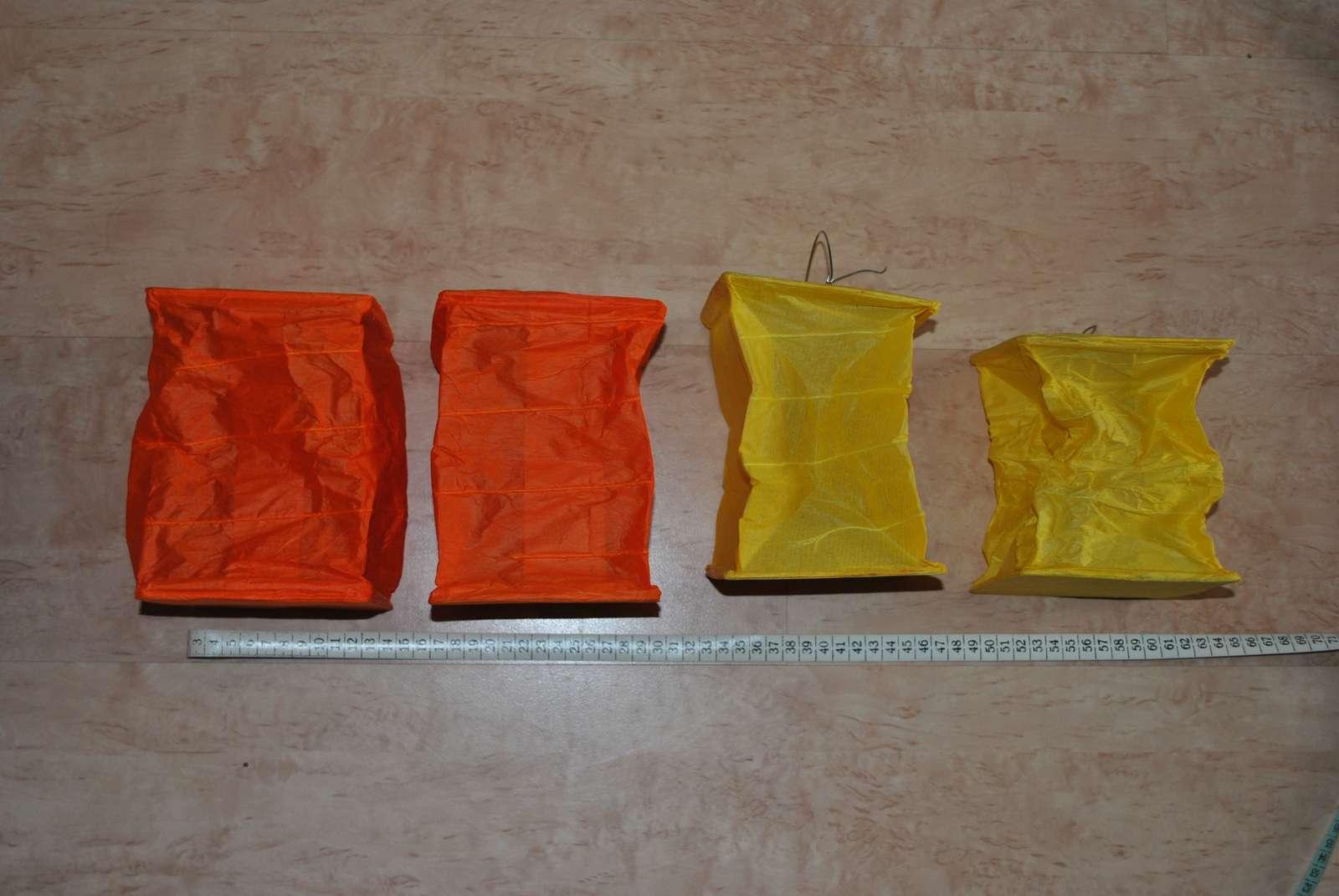 Oranžovo - žluté použité lampionky - 8 ks - Obrázek č. 2
