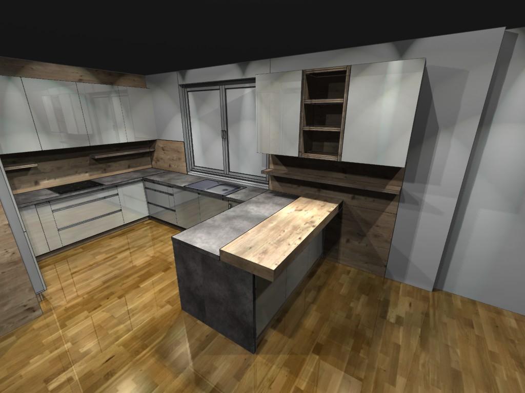 Navrh kuchyne orava - Obrázok č. 3