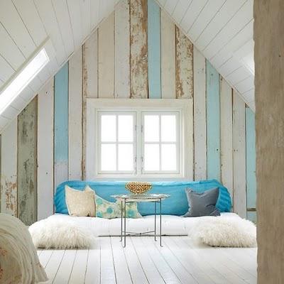 Tyrkysová ložnice - inspirace - Krásně sladěné - bílá, přírodní hnědá a tyrkysová...