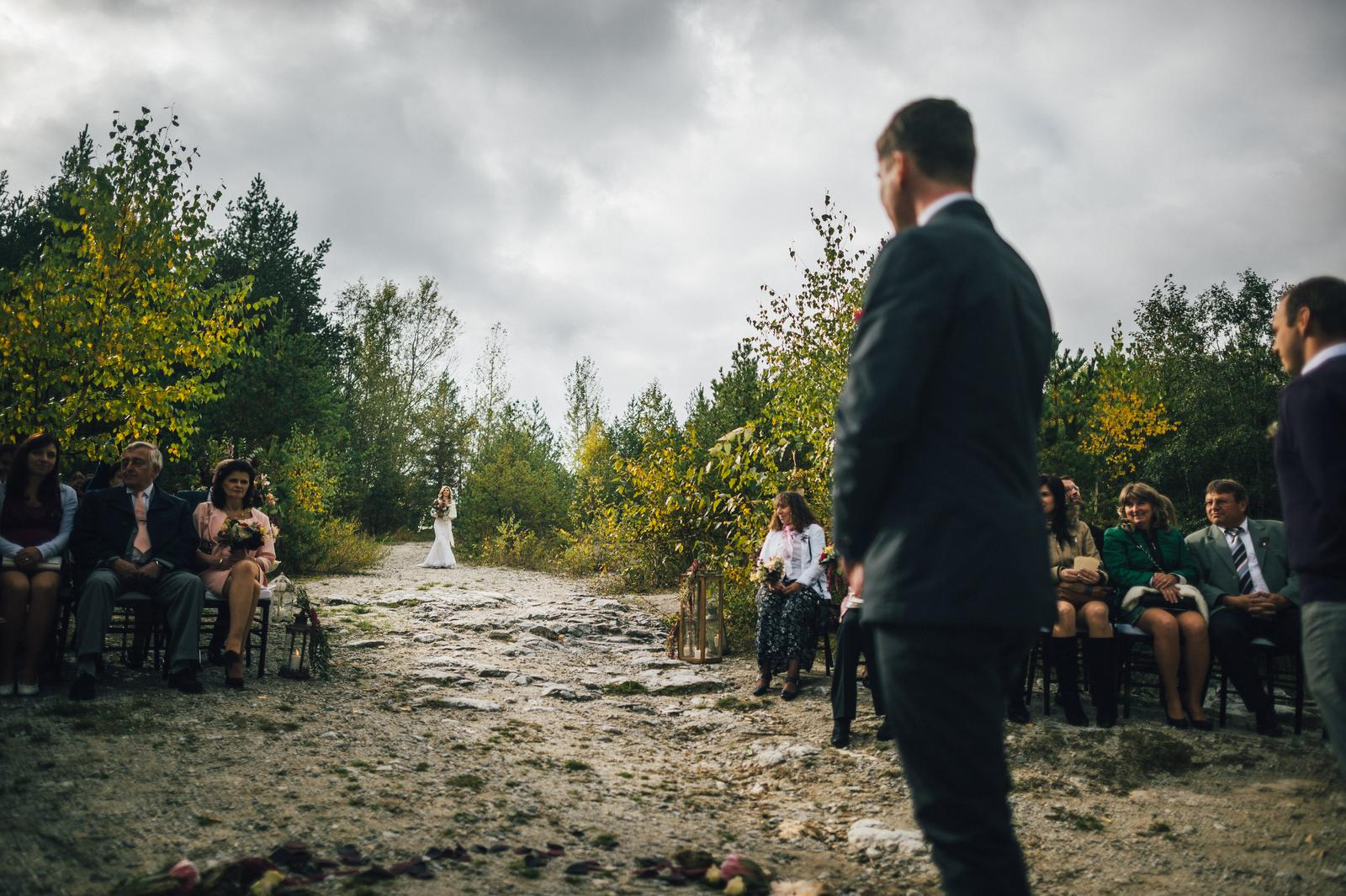 Ivona{{_AND_}}Pavel - První okamžik, kdy ženich spatřil nevěstu :))